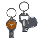 Siskiyou Buckle C3KC22 Texas Longhorns Nail Care/Bottle Opener Key Chain