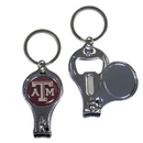Siskiyou Buckle C3KC26 Texas A & M Aggies Nail Care/Bottle Opener Key Chain