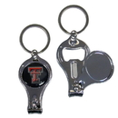 Siskiyou Buckle C3KC30 Texas Tech Raiders Nail Care/Bottle Opener Key Chain