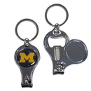 Siskiyou Buckle C3KC36 Michigan Wolverines Nail Care/Bottle Opener Key Chain