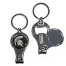 Siskiyou Buckle C3KC41 Michigan St. Spartans Nail Care/Bottle Opener Key Chain