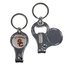 Siskiyou Buckle C3KC53 USC Trojans Nail Care/Bottle Opener Key Chain