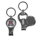 Siskiyou Buckle C3KC54 Arizona Wildcats Nail Care/Bottle Opener Key Chain