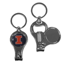 Siskiyou Buckle Illinois Fighting Illini Nail Care/Bottle Opener Key Chain, C3KC55