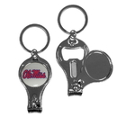 Siskiyou Buckle C3KC59 Mississippi Rebels Nail Care/Bottle Opener Key Chain