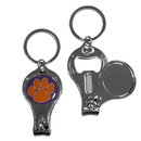 Siskiyou Buckle Clemson Tigers Nail Care/Bottle Opener Key Chain, C3KC69