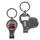 Siskiyou Buckle C3KC75 Montana Grizzlies Nail Care/Bottle Opener Key Chain