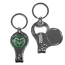 Siskiyou Buckle C3KC76 Colorado St. Rams Nail Care/Bottle Opener Key Chain