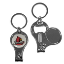 Siskiyou Buckle Louisville Cardinals Nail Care/Bottle Opener Key Chain, C3KC88