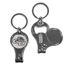 Siskiyou Buckle Gonzaga Bulldogs Nail Care/Bottle Opener Key Chain, C3KC93