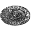 Siskiyou Buckle C4000 Small Rose Antiqued Belt Buckle