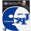Siskiyou Buckle C4GFD35 Kentucky Wildcats Set of 4 Game Day Faces