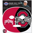 Siskiyou Buckle C4GFD38 Ohio St. Buckeyes Set of 4 Game Day Faces