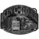 Siskiyou Buckle C6 King of the Road  Antiqued Belt Buckle