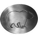 Siskiyou Buckle C7 Grizzly Silhouette Antiqued Belt Buckle