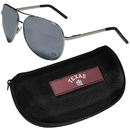 Siskiyou Buckle Texas A & M Aggies Aviator Sunglasses and Zippered Carrying Case, CASG26HC