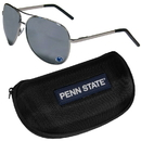 Siskiyou Buckle Penn St. Nittany Lions Aviator Sunglasses and Zippered Carrying Case, CASG27HC
