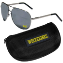 Siskiyou Buckle Michigan Wolverines Aviator Sunglasses and Zippered Carrying Case, CASG36HC