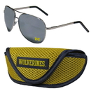Siskiyou Buckle Michigan Wolverines Aviator Sunglasses and Sports Case, CASG36SC