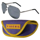 Siskiyou Buckle LSU Tigers Aviator Sunglasses and Sports Case, CASG43SC