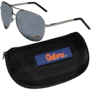 Siskiyou Buckle Florida Gators Aviator Sunglasses and Zippered Carrying Case, CASG4HC
