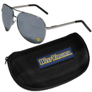 Siskiyou Buckle W. Virginia Mountaineers Aviator Sunglasses and Zippered Carrying Case, CASG60HC