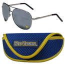 Siskiyou Buckle W. Virginia Mountaineers Aviator Sunglasses and Sports Case, CASG60SC