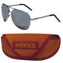 Siskiyou Buckle Virginia Tech Hokies Aviator Sunglasses and Sports Case, CASG61SC