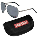 Siskiyou Buckle S. Carolina Gamecocks Aviator Sunglasses and Zippered Carrying Case, CASG63HC