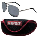 Siskiyou Buckle S. Carolina Gamecocks Aviator Sunglasses and Sports Case, CASG63SC
