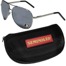 Siskiyou Buckle Florida St. Seminoles Aviator Sunglasses and Zippered Carrying Case, CASG7HC