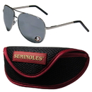 Siskiyou Buckle Florida St. Seminoles Aviator Sunglasses and Sports Case, CASG7SC