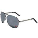 Siskiyou Buckle CASG88 Louisville Cardinals Aviator Sunglasses
