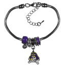 Siskiyou Buckle East Carolina Pirates Euro Bead Bracelet, CBBR102