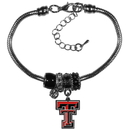 Siskiyou Buckle Texas Tech Raiders Euro Bead Bracelet, CBBR30