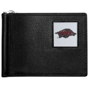 Siskiyou Buckle CBCW12 Arkansas Razorbacks Leather Bill Clip Wallet