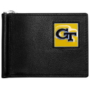 Siskiyou Buckle Georgia Tech Yellow Jackets Leather Bill Clip Wallet, CBCW44