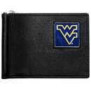 Siskiyou Buckle CBCW60 W. Virginia Mountaineers Leather Bill Clip Wallet