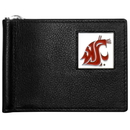 Siskiyou Buckle CBCW71 Washington St. Cougars Leather Bill Clip Wallet