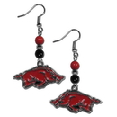 Siskiyou Buckle CBDE12 Arkansas Razorbacks Fan Bead Dangle Earrings