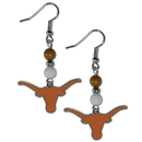 Siskiyou Buckle CBDE22 Texas Longhorns Fan Bead Dangle Earrings
