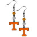 Siskiyou Buckle CBDE25 Tennessee Volunteers Fan Bead Dangle Earrings