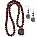 Siskiyou Buckle S. Carolina Gamecocks Fan Bead Earrings and Necklace Set, CBDE63FBN
