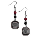 Siskiyou Buckle CBDE63 S. Carolina Gamecocks Fan Bead Dangle Earrings