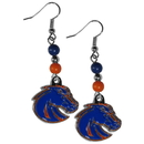 Siskiyou Buckle CBDE73 Boise St. Broncos Fan Bead Dangle Earrings