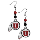 Siskiyou Buckle CBDE89 Utah Utes Fan Bead Dangle Earrings