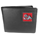 Siskiyou Buckle CBI100 Fresno St. Bulldogs  Leather Bi-fold Wallet Packaged in Gift Box
