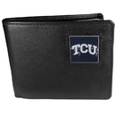 Siskiyou Buckle CBI112 TCU Horned Frogs Leather Bi-fold Wallet Packaged in Gift Box