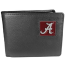 Siskiyou Buckle CBI13 Alabama Crimson Tide Leather Bi-fold Wallet Packaged in Gift Box