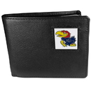Siskiyou Buckle CBI21BX Kansas Jayhawks Leather Bi-fold Wallet